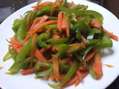 You Can Eat Lots of Brightly Colored Vegetables with this Carrot and Bell Pepper Stir-fry