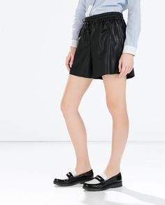 FAUX LEATHER JOGGING SHORTS-Trousers-Woman-COLLECTION SS15 | ZARA Republic of Korea