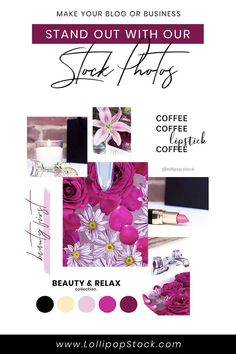 Beauty & Relax Collection - Deep pink & gold tones Photos) — Lollipop Stock Membership - Premium Stock Photos For Your Creative Needs! Image Newsletter, Flower Makeup, Blog Images, Social Media Graphics, Makeup Lovers, Pink And Gold, How To Memorize Things, Stock Photos, Make It Yourself
