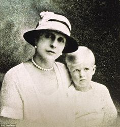 During the Second World War, Princess Alice (pictured with son Prince Philip as a young bo...