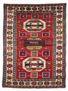 A Splendid Kazak rug early 20th C.