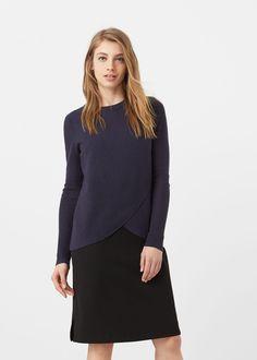 Ribbed sweater, $30 at MANGO