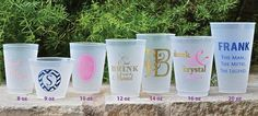 Personalized Clear Shatterproof Cups are the perfect addition to your party. These frost flex cups are great for serving wine, beer, and cocktails