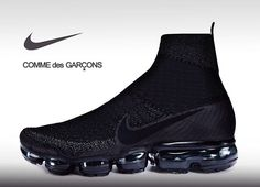 Concept of the Vapor max CDG edition redesigned by me Sneakers Mode, Best Sneakers, Sneakers Fashion, Shoes Sneakers, Black Nike Shoes, Nike Air Shoes, Nike Air Max, Futuristic Shoes, Top Running Shoes