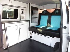Camper dreams - VW camper, campervan interior conversion transporter conversion (ro roof or toilet) Vw T5 Interior, Campervan Interior Volkswagen, Interior Design, T5 Bus, Tiny House, Kombi Home, Combi Vw, Cool Campers, Happy Campers