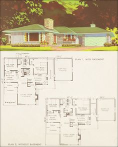 I want to rework this plan and make it livable for today.  Anybody else think this is darn near mid century perfection!  I love it!  1954 National Plan Service - Plan 7317