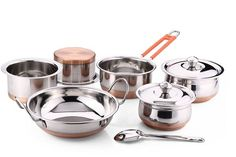 9pcs Copper Bottom Cookware Set