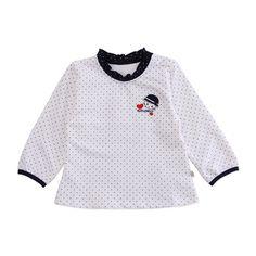 Детские рубашки из Китая :: Кара медведь девочек к 2015 году весна новый Ангел сердце плечо пряжки ребенка с длинным рукавом 63132020387.