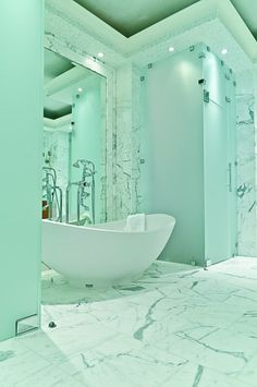 Delicieux 25 Luxurious Marble Bathroom Design Ideas. Mint Green ...