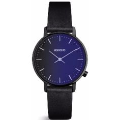 Harlow Midnight Watch (100.865 CLP) ❤ liked on Polyvore featuring jewelry, watches, blue watches, stainless steel jewelry, blue jewellery, stainless steel watches and stainless steel wrist watch