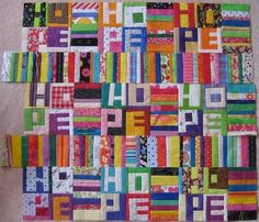 A word quilt is in my future.... | Improv-ing | Pinterest ... : quilt words - Adamdwight.com