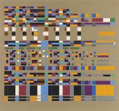 Musical Painting: Giuseppe Verdi, Requiem, 1958 by Robert Strubin. Concretism. abstract