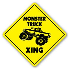 MONSTER TRUCK CROSSING Sign xing gift novelty jump race cage tires big foot Zanysigns,http://www.amazon.com/dp/B007TN7LUS/ref=cm_sw_r_pi_dp_NmD6sb1D32S96PJF