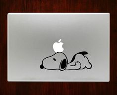 """Lazy Snoopy Decal Sticker Vinyl For Macbook Pro/Air Decal Sticker Vinyl For Macbook Pro Air 13"""" Inch 15"""" Inch 17"""" Inch Decals"""