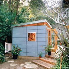 Articles about studio shed easy backyard storage solution. Dwell is a platform for anyone to write about design and architecture. Shed Office, Backyard Office, Backyard Studio, Garden Studio, Backyard Cabin, Modern Backyard, Garden Office, Mini Loft, Bungalow