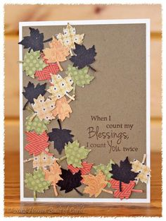 Scattered leaves with invitation on front