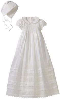 Amazon.com: Hartstrings Baby-Girls Newborn Christening Cotton Dress And Bonnet Set: Clothing