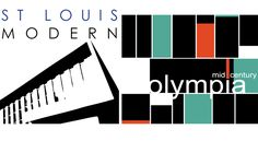 STL MODERN and Mid-Century Olympia project logos