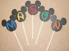 Disney Minnie Mickey Mouse Happy Birthday Cake Topper - You Customize