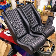 Love these seats by @revracing / #autoupholstery #autotrim #carinterior #upholstery #thehogring