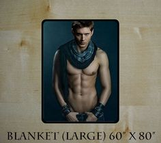"""New Extra Large Blanket 60"""" X 80"""" Hot Sexy SUPERNATURAL Dean and Sam Shirtless as Special Gift #20 - Kelli"""
