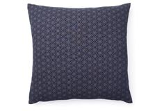 One Kings Lane - All-American - Kio Star 20x20 Cotton Pillow, Navy