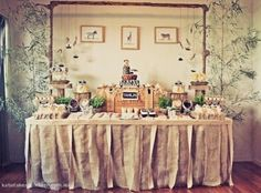 I love the idea of having a desert table at your reception