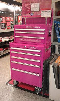 :) First it's pink! Want! Second I want it for beauty supplies...and sadly I think I could totally fill it up...I'm vain okay? Lol