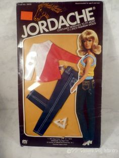 Barbie Size JORDACHE Jeans Red White Blouse Pilgrim SHOES NOS Doll Clothes Mego