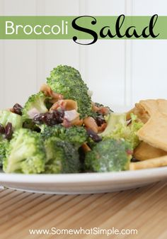 Recipe for Broccoli Salad from www.SomewhatSimple.com