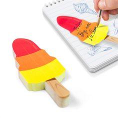 Ice cream rocket sticky notes