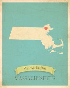 Children Inspire Design My Roots Massachusetts Personalized Map Paper Print Watercolor Canvas, Canvas Art, Butterfly Wall Decals, Personalized Growth Chart, Personalised Canvas, My Roots, Playroom Decor, State Map, Decoration
