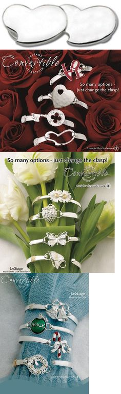 Other Wedding Jewelry 164311: Lestage Convertible Bracelet Clasp - Love Pair Of Hearts Sb5738 -> BUY IT NOW ONLY: $79 on eBay!