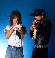 Two Gunslingers. Jeff Beck and Stevie Ray Vaughan 1989
