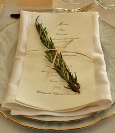 Rosemary branch for the Tuscan Menu Wedding FLORENCE