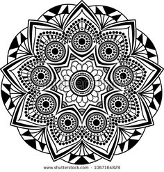 Mandala adult coloring page. Vector illustration. Tibetan motifs, relax and meditation.