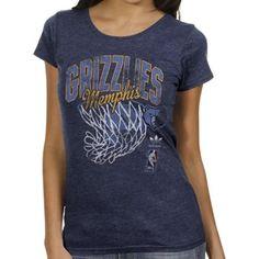 adidas Memphis Grizzlies Ladies Originals Nice Shot Too Cap Sleeve Fitted T- Shirt - Navy 78e0842ce