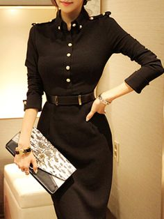 Fashion Paneled Midi Dress $45.99