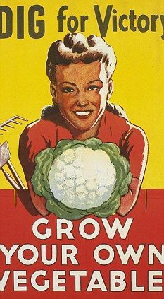 """WWII poster - grow a; """"victory garden."""""""