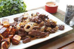 Iscas de picanha com cebolas carameladas | Receitas e Temperos