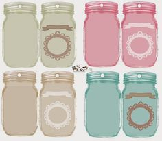 glenda's World ~~ Folding Jar Tags. Free download.