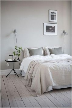23 Modern Interior Design: 23 Awesome & Elegance Scandinavian Bedroom D. Modern Master Bedroom, Minimalist Bedroom, Taupe Bedroom, Minimalist Home Interior, Trendy Bedroom, Scandinavian Bedroom, Scandinavian Style, Scandinavian Furniture, Luxurious Bedrooms