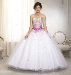 Vizcaya 88086 Ombre Beaded Quinceanera Dress