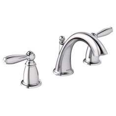 Brantford Double Handle Widespread Standard Bathroom Faucet with Drain Assembly
