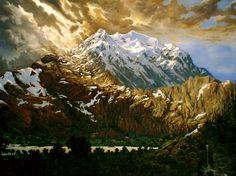 """""""Vista del Illimani desde la Cruz"""". Óleo sobre lienzo. 2007"""