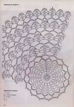 Picasa Web Albums - crochet pattern diagram for what is obviously a doily but I like it for a poncho or a baby girl's dress skirt Filet Crochet, Mandala Au Crochet, Free Crochet Doily Patterns, Crochet Doily Diagram, Crochet Motifs, Crochet Circles, Crochet Potholders, Crochet Tablecloth, Crochet Chart