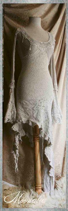 Butterfly Wishpers Silvergrey Dress SH by Moonalia on Etsy