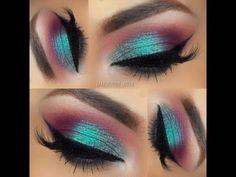 Eye Makeup Tips.Smokey Eye Makeup Tips - For a Catchy and Impressive Look Gorgeous Makeup, Love Makeup, Makeup Inspo, Makeup Inspiration, Beauty Makeup, Makeup Ideas, Makeup Style, Green Makeup, Skin Makeup