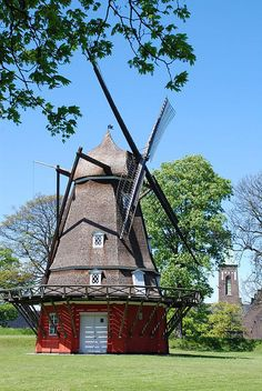 Retired but still beautifull    Historic Windmill in Copenhagens Kastellet, a fortress built between 1626-1663.