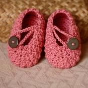 Pretty in Pink Baby Booties - via @Craftsy